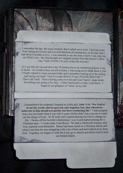 Choose Life Testimony Album, Page 9 - Hidden Journaling
