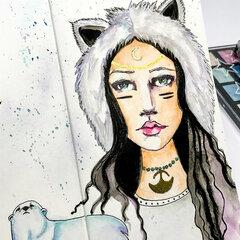 Winter Spirit Girl by Kate Palmer