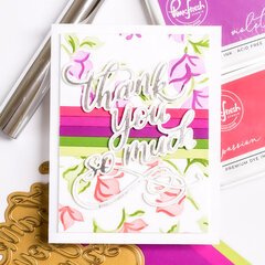 Bougainvillea Thank You So Much Foiled Card