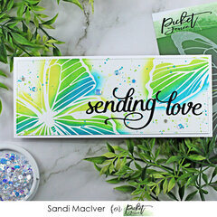 Sending love butterfly