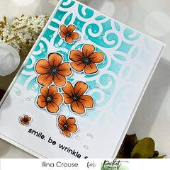 Scrolls Stencil Flowers