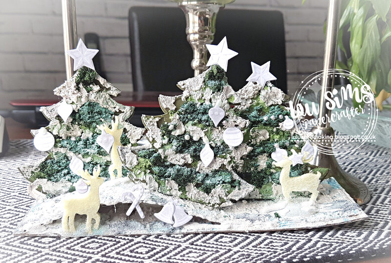Mixed media Christmas decoration