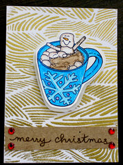 Merry christmas gold card