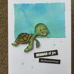 Oceans of joy: a #AuthorsForFireys  thank you card