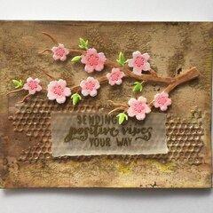 Sakura flowers positive vibes