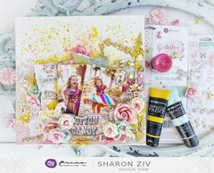 Mixed Media canvas with Prima Marketing - DULCE