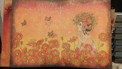 Prima princess Raine in a field of daisies art journal