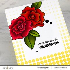 Wavy Roses CAS Card