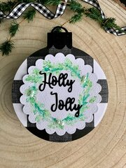Holly Jolly Ornament Tag