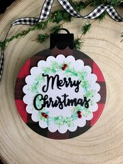Merry Christmas Ornament Tag