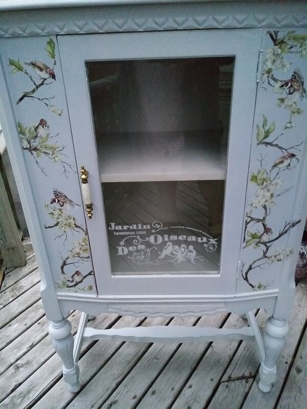 ANTIQUE RADIO CABINET -- MAKE OVER