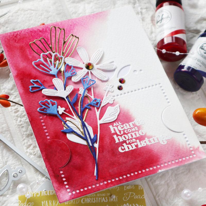 Gift card holder holiday card -Pinkfresh Studio