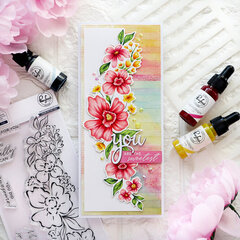 Floral Notes - Pinkfresh Studio