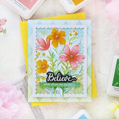 Garden Florals Layered stencil - Pinkfresh Studio