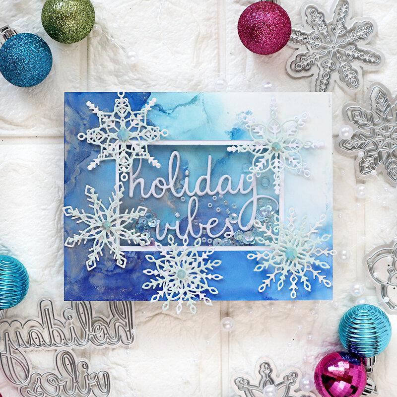 Layered Snowflakes - Pinkfresh Studio