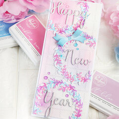 New Years card - Pinkfresh Studio