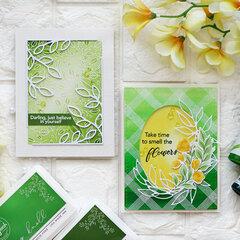 Framed green cards - Pinkfresh Studio