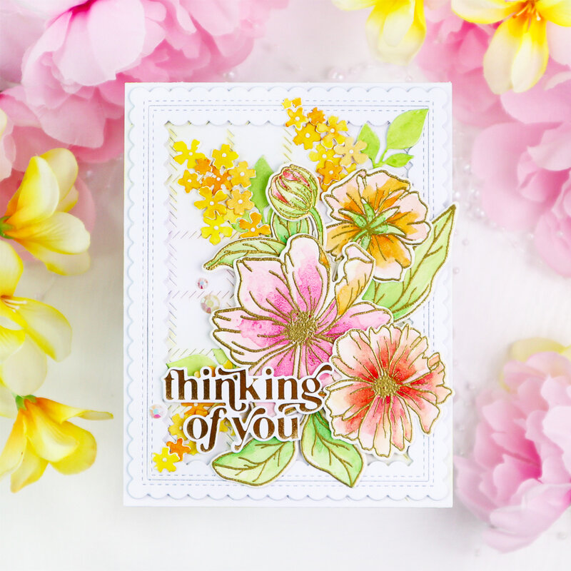 It's a New Day Floral Stamp - Pinkfresh Studio