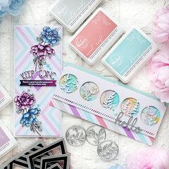 Slimline cards in pastel colors