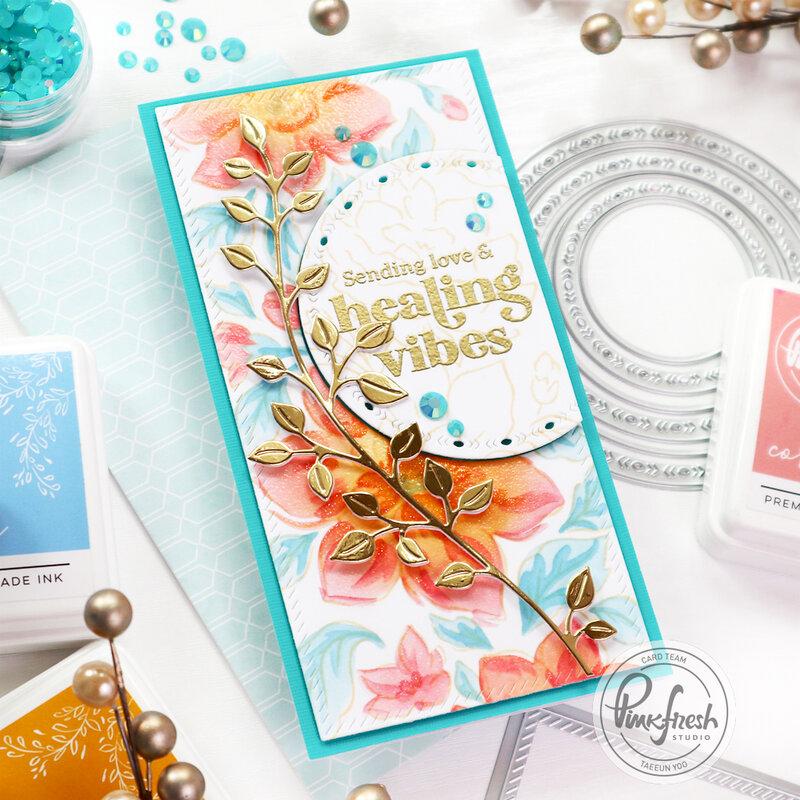 Mini slimline card - Pinkfresh Studio