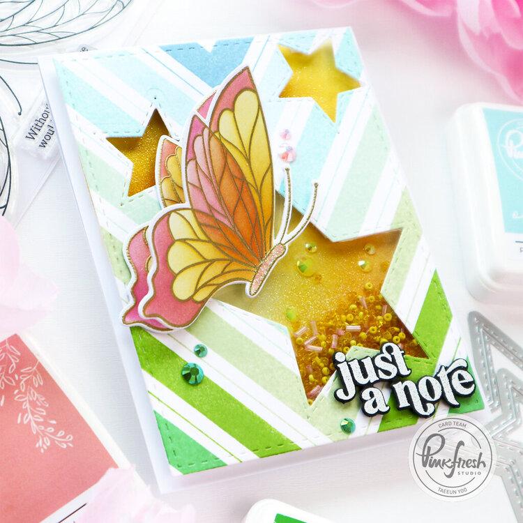Star Shaker card - Pinkfresh Studio