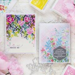 Floral Stencils - Pinkfresh Studio