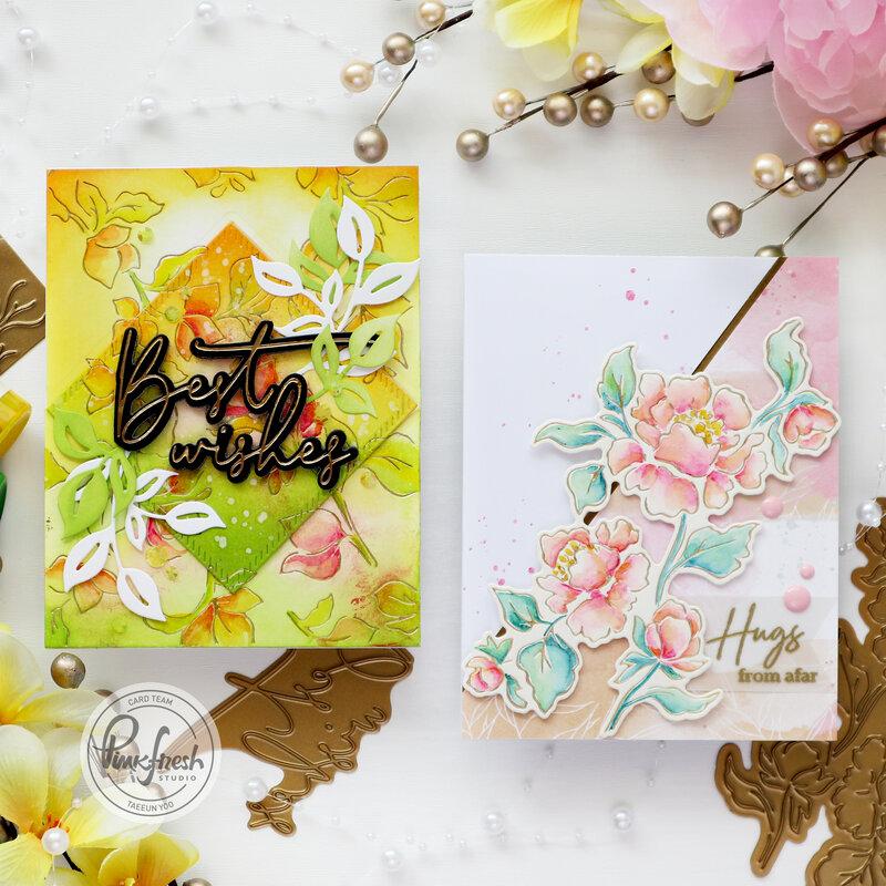 Hot Foiling on Watercolor paper - Pinkfresh Studio