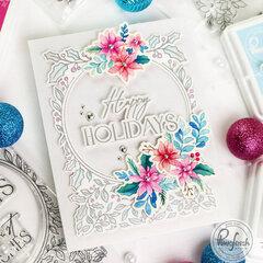 Happy Holidays Circle Frame - Pinkfresh Studio
