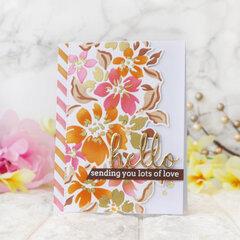 Seamless Floral Panel Layered Stencil - Pinkfresh Studio