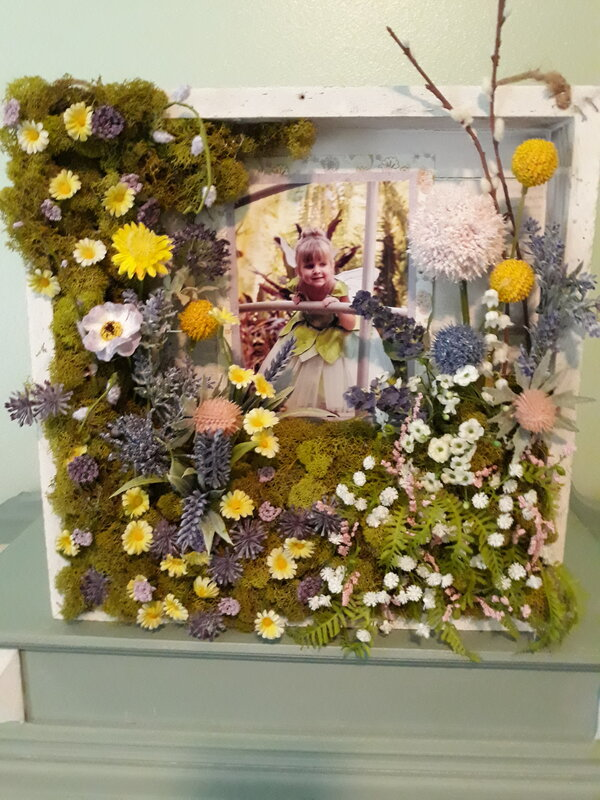 Fairy garden shadow box