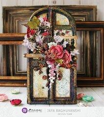 Prima Pretty Mosaic Altered door plaque