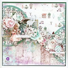 "MIXED MEDIA LAYOUT ""SUGAR COOKIE"""
