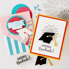 FSJ Graduation Card Ideas with the Hats Off Die Set