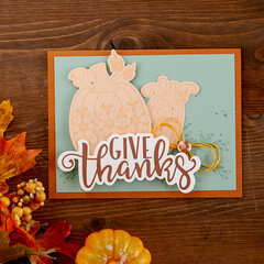 Give Thanks Fall Pumpkin Card