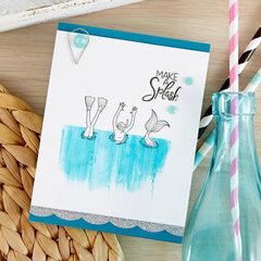 Clean and Simple Make a Splash Card