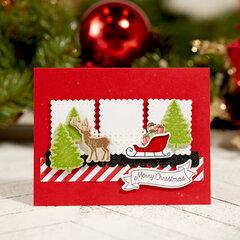 FSJ Merry Christmas Winter Scene Card