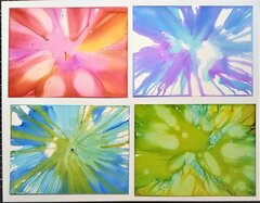 Salad Spinner and Alcohol ink Backgrounds