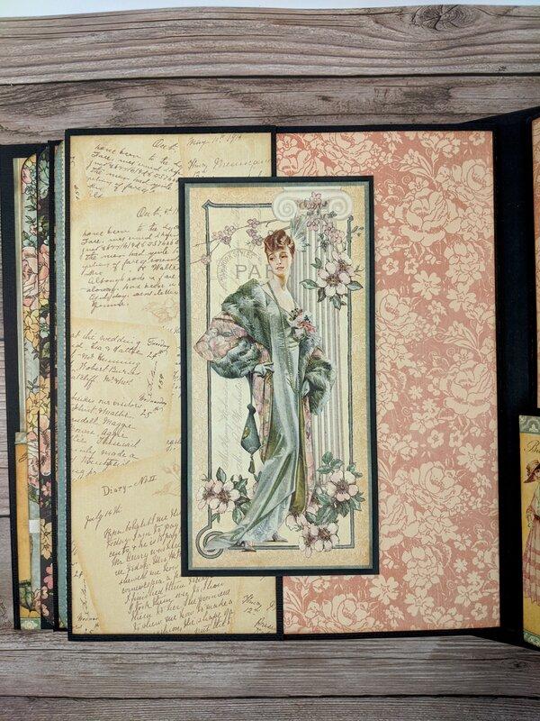 """Mini Album - Graphic 45 Ladies Diary (8.5"""" x 10"""")"""