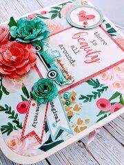 Mini Album - Flower Market Using Tonic Studios Life's Journey