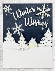 Snow-Themed Christmas / Holiday Cards