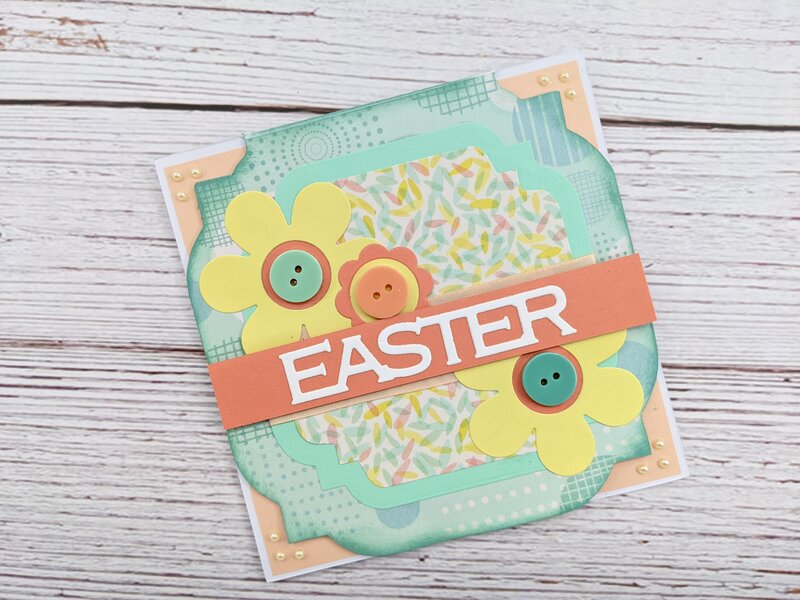 Easter card using Crafter's Companion box 25 Everyday Cards