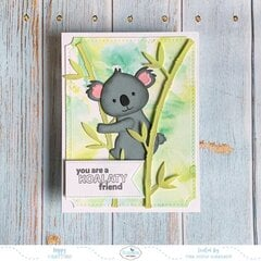ELIZABETH CRAFT DESIGNS CS158 Clear Stamps Bear HUGS