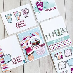 Catherine Pooler Designs Cards with Retro Winter Collection