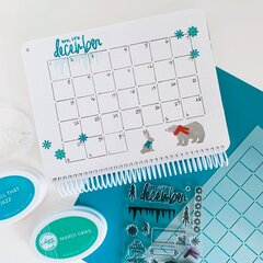 Catherine Pooler Designs Canvo Journal December Spread