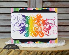 Rainbow Floral Love Card