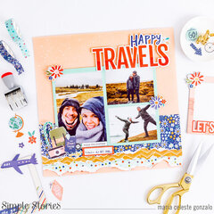 """Happy Travels"" Layout"