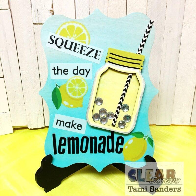 fresh squeezed lemonade sign * Clear Scraps DT