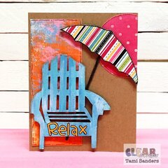 beachy relax card * Clear Scraps DT
