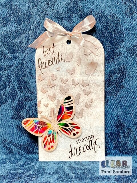 best friends butterfly tag * Clear Scraps DT