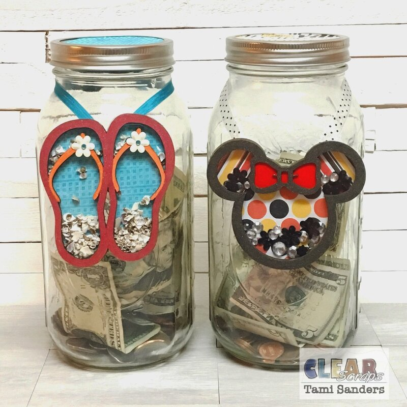 vacation $aving jars * Clear Scraps DT